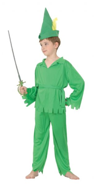 Boys Peter Pan/Robin Hood Costume Neverland Pan Fancy Dress Outfit Cosplay